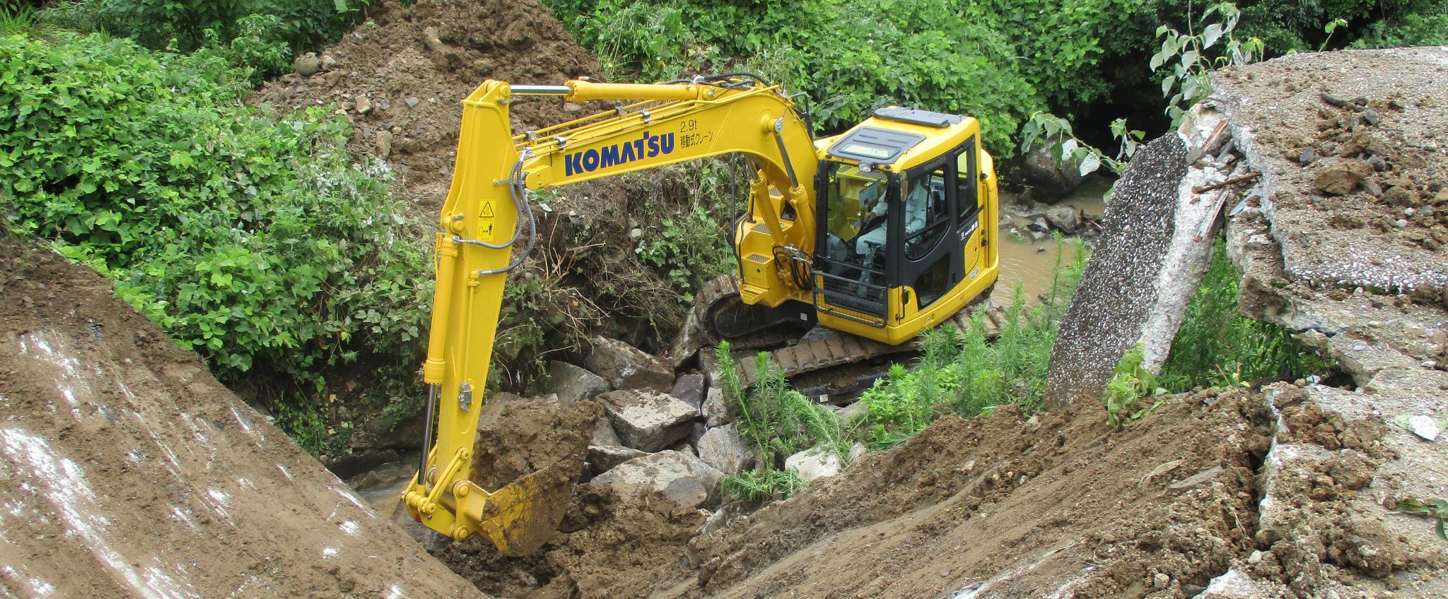 夢進は解体工事だけでなく土木工事も専門です!